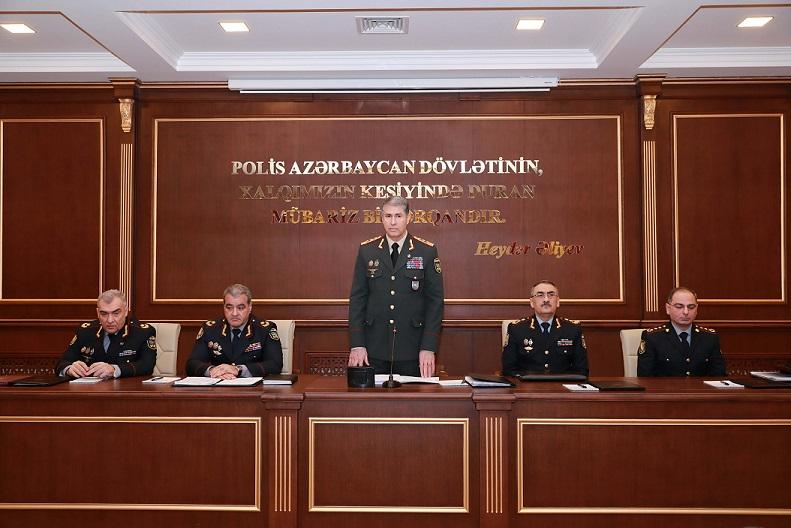 Vilayət Eyvazov paytaxt polisindəki müşavirədə: nazir konkret tapşırıqlar verdi - FOTOLAR
