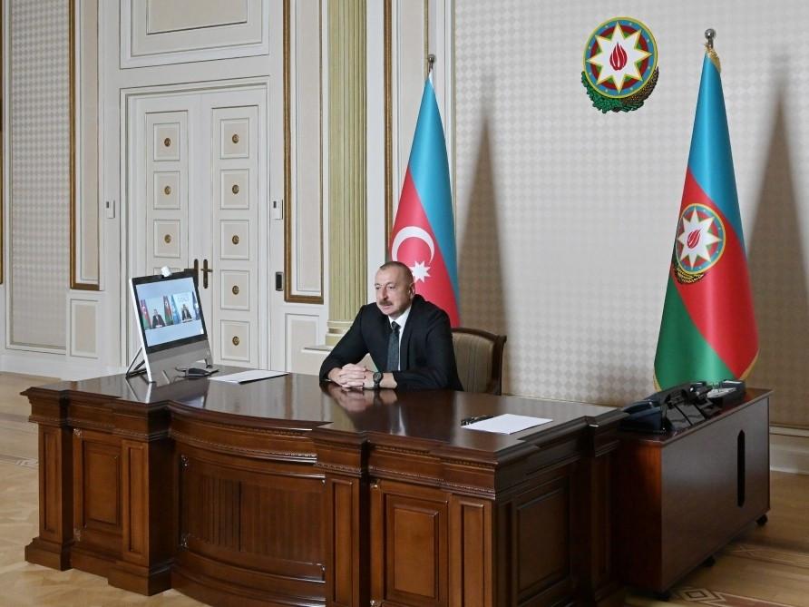 İlham Əliyev və ÜTT-nin Baş katibi arasında videokonfrans keçirilib - FOTO