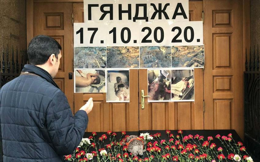 Moskvada Gəncədə həlak olanların xatirəsinə həsr olunmuş aksiya keçirilir
