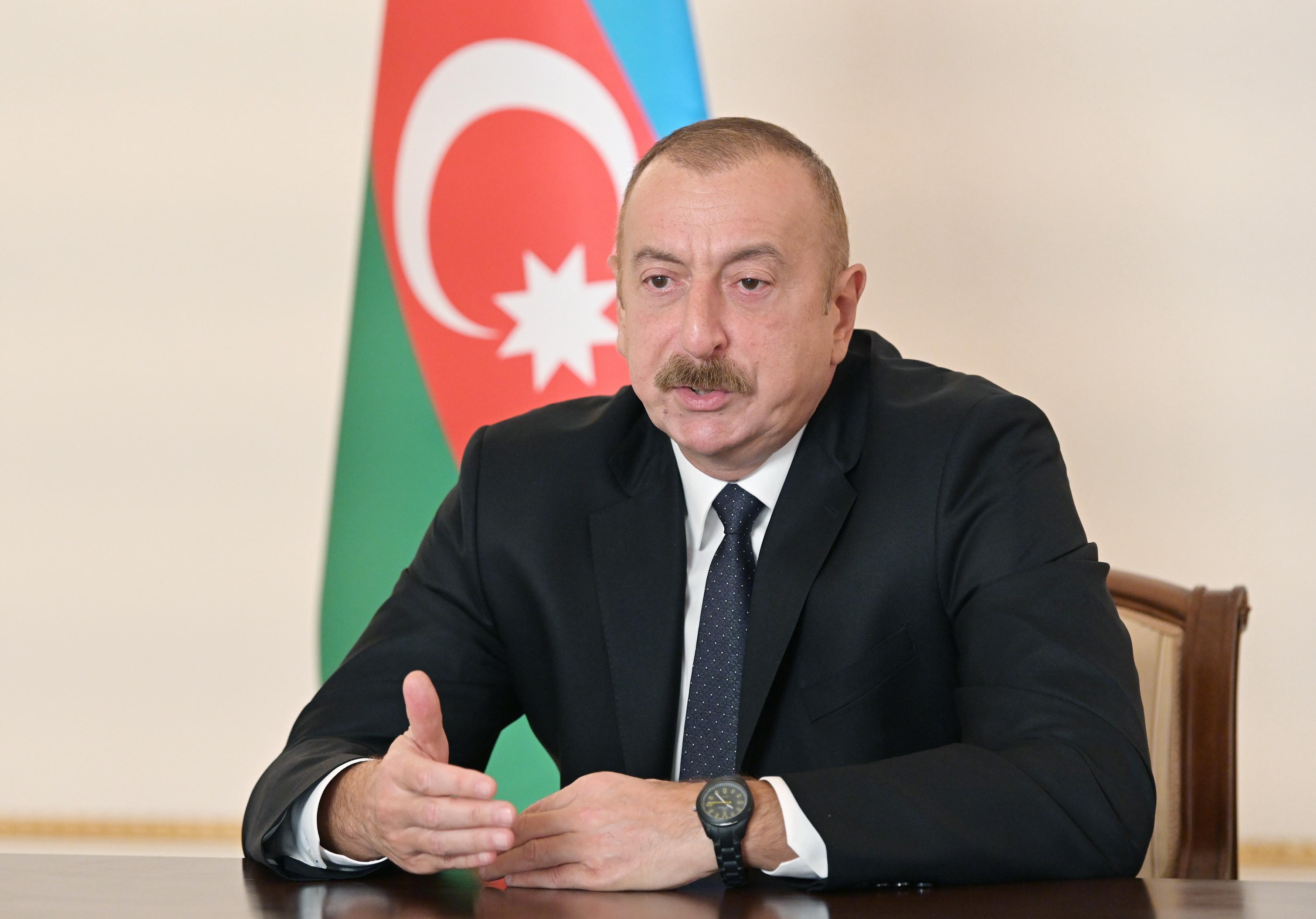 <p><strong>Prezident İlham Əliyev Azərbaycan Televiziyasına müsahibə verib</strong></p>