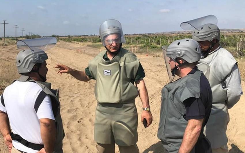 Britaniyalı ekspert Füzulidə mina basdırılmış ərazilərdəki vəziyyəti araşdırıb